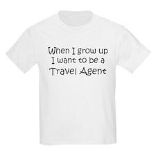 Grow Up Travel Agent Kids T-Shirt