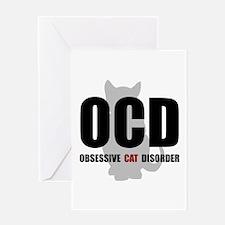OCD Cat Greeting Card