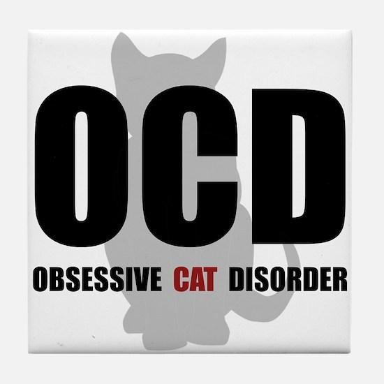 OCD Cat Tile Coaster
