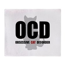 OCD Cat Throw Blanket
