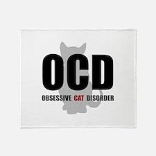 OCD Cat Throw Blanket