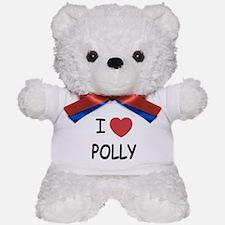 I heart polly Teddy Bear