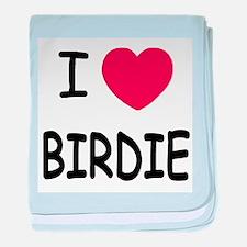 I heart birdie baby blanket