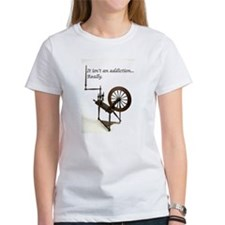 2-spinning wheel addiction T-Shirt