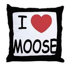 I heart moose Throw Pillow