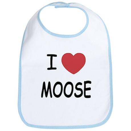I heart moose Bib