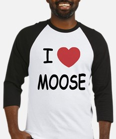 I heart moose Baseball Jersey