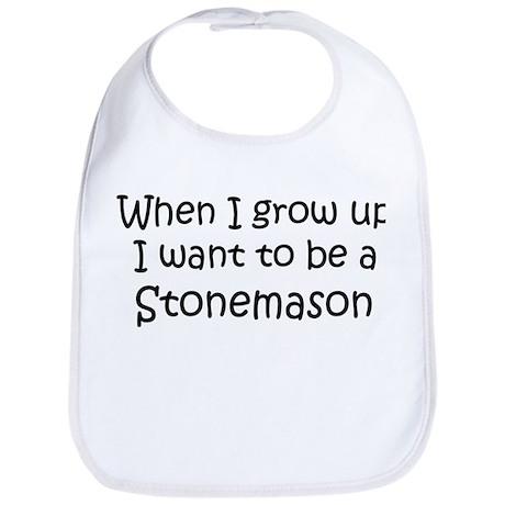 Grow Up Stonemason Bib