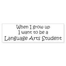 Grow Up Language Arts Student Bumper Bumper Sticker