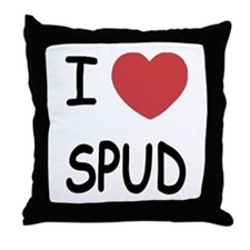 I heart spud Throw Pillow