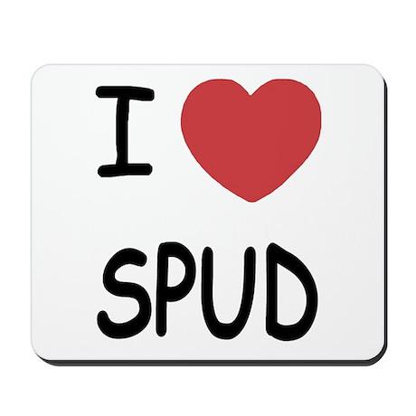 I heart spud Mousepad