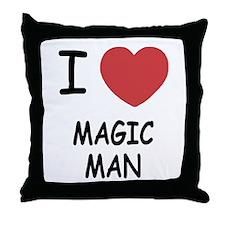 I heart magic man Throw Pillow