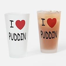 I heart puddin Drinking Glass