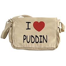 I heart puddin Messenger Bag