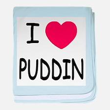 I heart puddin baby blanket