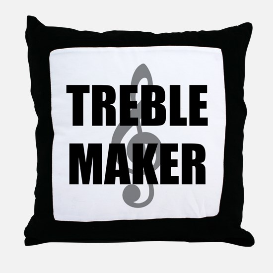 Treble Maker Throw Pillow