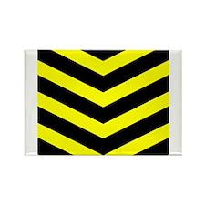 Black/Yellow Chevron Rectangle Magnet