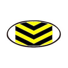 Black/Yellow Chevron Patches