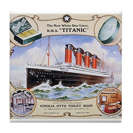 Titanic First Class Soap Tile Coaster