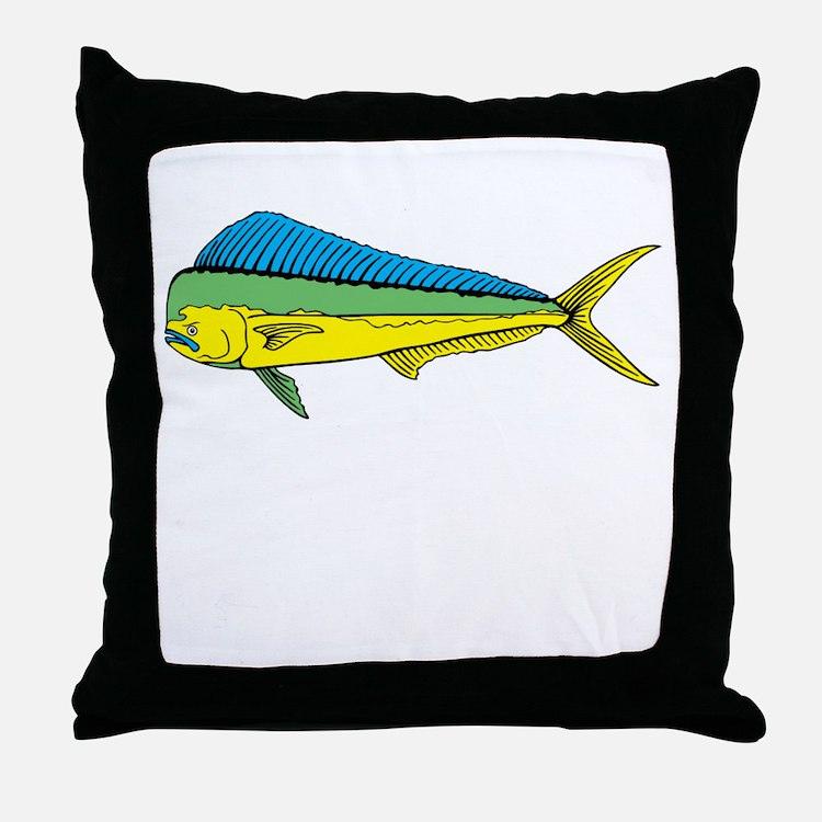 Mahi mahi pillows mahi mahi throw pillows decorative for Fish throw pillows