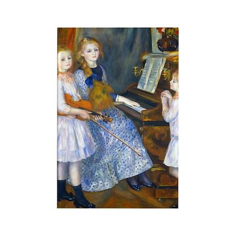 Renoir - Mendes Daughters Rectangle Magnet