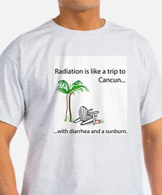 Radiation and Cancun Ash Grey T-Shirt
