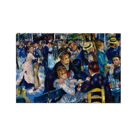 Renoir - Galette Rectangle Magnet