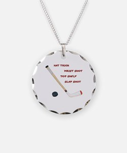 Hockey Necklace Circle Charm