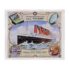 Titanic First Class Soap Throw Blanket