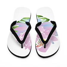 Pink Lotus Flip Flops