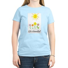 Life is Beautiful Women's Pink T-Shirt