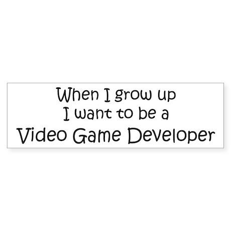 Grow Up Video Game Developer Bumper Sticker