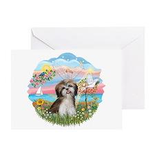 Angel Star / Shih Tzu Greeting Card
