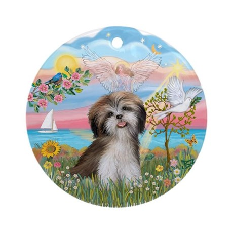 Angel Star / Shih Tzu Ornament (Round)
