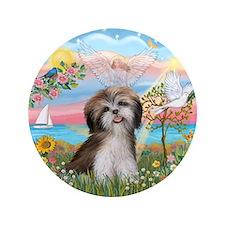 """Angel Star / Shih Tzu 3.5"""" Button (100 pack)"""