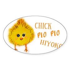 Chick says Pio Pio Decal