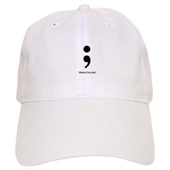 Semi-Colon Baseball Cap