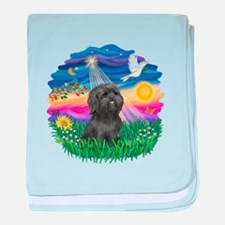 Twilight-BlkShihTzu baby blanket