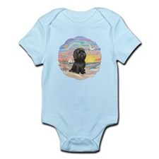 OceanSunrise-ShihTzu-blk Infant Bodysuit