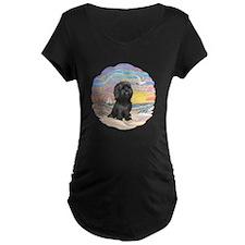 OceanSunrise-ShihTzu-blk T-Shirt
