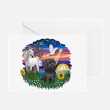 MagicalNight-BlkShihTzu Greeting Card