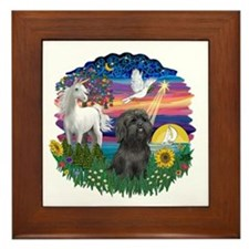 MagicalNight-BlkShihTzu Framed Tile
