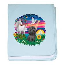 MagicalNight-BlkShihTzu baby blanket