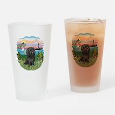 LightHouse-BlackShihTzu Drinking Glass