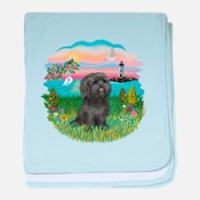LightHouse-BlackShihTzu baby blanket