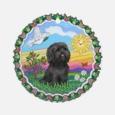 HappySun-ShihTzu#21 Ornament (Round)
