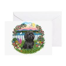 Garden-ShihTzu#21 Greeting Card