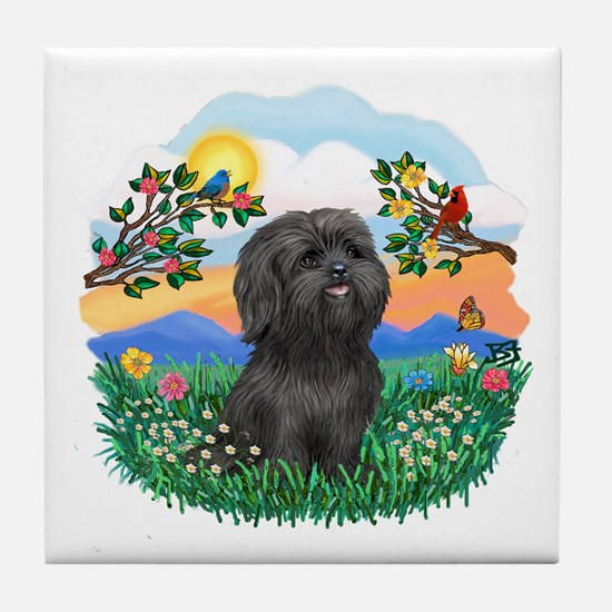 BrightLife-ShihTzu#21 Tile Coaster