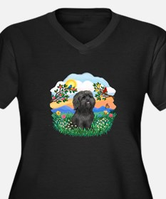 BrightLife-ShihTzu#21 Women's Plus Size V-Neck Dar