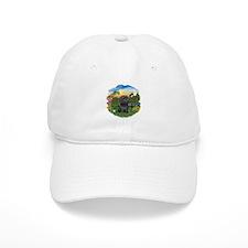 BrightCountry-ShihTzu-blk Baseball Cap